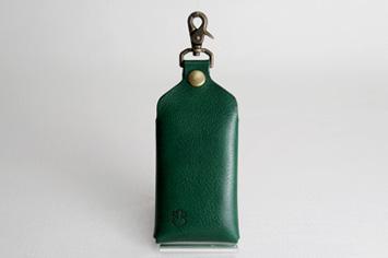 革職人Sachiの手作りスマートフォンケース,カラーバリエーション,グリーン,緑